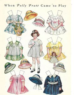 """Original Paper Dolls LHJ 3 Pages 1920's by Sheila Young 8x11"""" 
