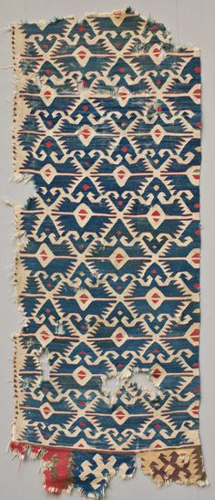 Anatolian Kilim Fragment 19th c.