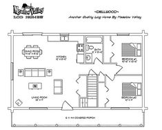 Meadow Valley Log Homes - The Dellwood - Floor Plans