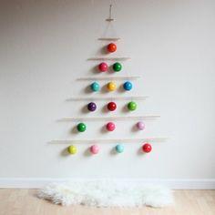 rainbow ornament tree