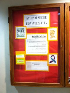 Suicide Prevention Bulletin Board Counselor Stuff