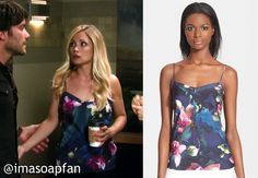 I'm a Soap Fan: Lulu Spencer Falconeri's Blue and Pink Floral Camisole - General Hospital, Season 53, Episode 119, 09/16/15 Wardrobe worn on #GH, #GeneralHospital