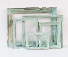 Large Set of Shabby Chic Frames SET of 5 by ThePictureHook on Etsy, $110.00