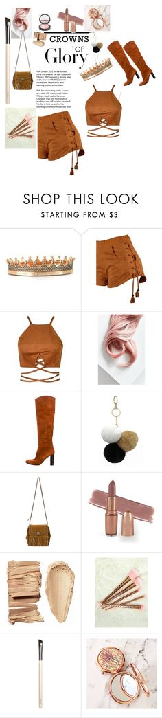 """""""Crowns of Glory"""" by archsan ❤ liked on Polyvore featuring Tiffany & Co., Azhar, Lime Crime, Hermès, Under One Sky, Coach 1941, Chantecaille, denim, shorts and pants"""