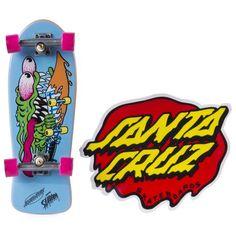 Tech Deck SANTA CRUZ Gross Skull and Head Fingerboard Series 9 Stickers /& Stand