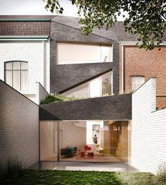 Passive renovatie van een rijhuis in Doornik