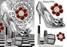 DIAMOND WITH SPARKLE SHOE AND SILVER MAKEUP on Craftsuprint - Add To Basket!