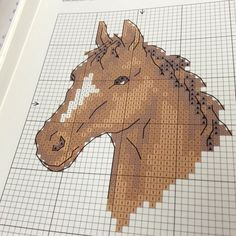 New Crochet Animals Horse Cross Stitch Ideas Cross Stitch Horse, Beaded Cross Stitch, Cross Stitch Animals, Cross Stitch Embroidery, Crochet Stitches Patterns, Cross Stitch Patterns, Modele Pixel Art, Free Cross Stitch Charts, C2c