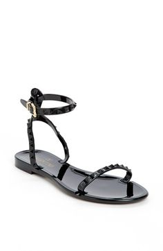 Valentino 'Rockstud' Ankle Strap Sandal available at #Nordstrom $295 w/ free shipping