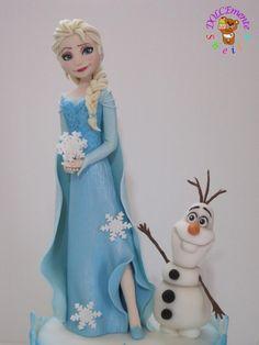 Elsa and Olaf - Cake by Sheila Laura Gallo
