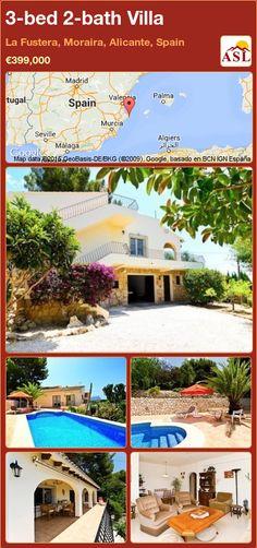 3-bed 2-bath Villa in La Fustera, Moraira, Alicante, Spain ►€399,000 #PropertyForSaleInSpain