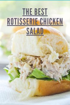 The best easy Rotisserie Chicken Salad Recipe starts with the best shortcut: store-bought rotisserie chicken! A bright and creamy dressing + plenty of texture means that this will be your go-to! This Rotisserie Chicken Salad Recipes Using Rotisserie Chicken, Rotisserie Chicken Salad, Chicken Sandwich Recipes, Chicken Salads, Easy Casserole Recipes, Easy Salad Recipes, Healthy Recipes, Game Recipes