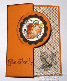 Stampin' Up!  Best of 25 years, Best of Autumn Stamp set is perfect for Thanksgiving Cards or Halloween.  When you use the New thinlit die and combine the set with some Sweater Weather Designer Series Paper  you can create a Stunning card in a matter of minutes.