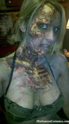 girl zombie makeup for Halloween - Halloween Costumes 2013