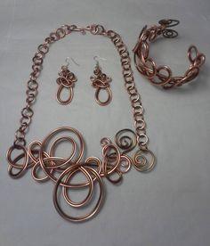 """Rita White on Instagram: """"Necklace, earrings and bracelet set."""""""