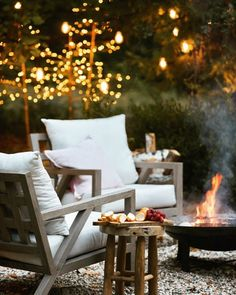 Outdoor fireplace Outdoor Areas, Outdoor Rooms, Outdoor Life, Outdoor Chairs, Outdoor Living, Outdoor Furniture Sets, Outdoor Decor, Porches, French Country Cottage