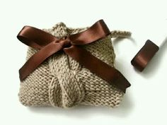 Cute Cable Knit Purse