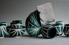 Kezemura handmade ceramics         #hokusai #blues #mug #bowl #pottery #design #wheelthrown
