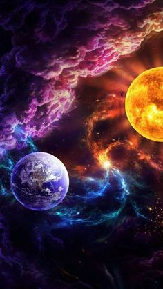 Wallpaper Earth, Iphone Wallpaper Sky, Cute Galaxy Wallpaper, Night Sky Wallpaper, Planets Wallpaper, Wallpaper Space, Scenery Wallpaper, Cool Wallpaper, Wallpaper Backgrounds