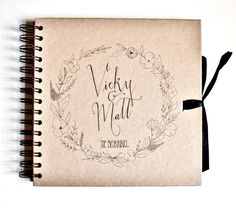 Personalised scrapbook 8 x 8 by TypeODesign on Etsy