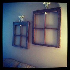 window panes hung with ribbon Diy Ideas, Decor Ideas, Window Panes, Bedroom Inspiration, Cheap Home Decor, Ribbon, Farmhouse, Windows, Crafty