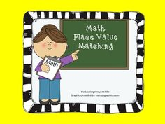 Here's a place value matching game with numbers through the hundred thousands.