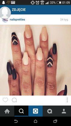 #nails #black #matte