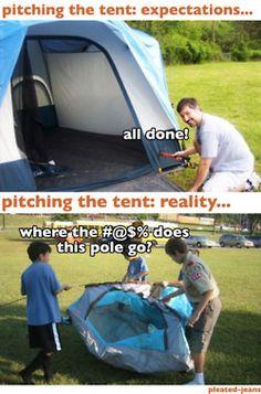 tents expectations vs reality