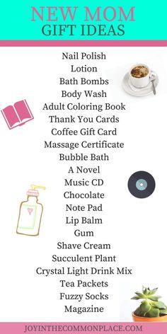What new mom doesn't love to receive a gift just for her? I've put together a list of gift ideas for a new mom at her baby shower.