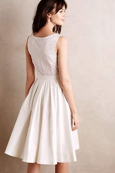 Pleated Trellis Dress - anthropologie.com