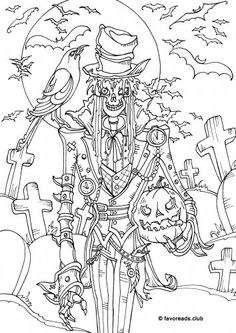 54 Best Halloween Coloring Pages For Grown Ups Images In 2019