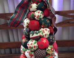 Pinheiro de Natal em Fuxico