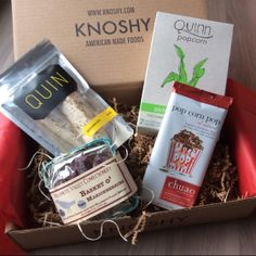 Knoshy Gourmet Food Subscription Box Review - Feb 2014 Items