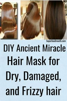 Diy Hair Mask for Dry, Damaged and Frizzy hair