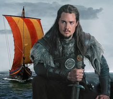 Alexander Dreymon as Uhtred in The Last Kingdom, BBC2's lavish new eight-part historical drama charting the brutal battles for the four main kingdoms of England