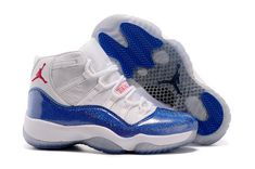 32f286cf849bc4 Air Jordan 11 Womens Discount Jordan 11 XI GS Royal Blue White Bling New Jordans  Shoes
