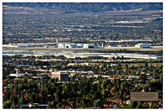 View of the old Norton Air Force Base from Redlands. Now San Bernardino Int. Airport.   (Fast and the Furious filming location)