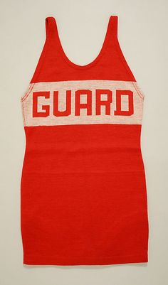 "1925 wool ""lifeguard"" Bathing Suit by Gantner of California"