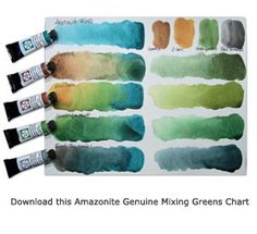 Amazonite Mixing Chart for greens (from Daniel Smith Art Supplies)