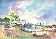 Travel Painting - Arrecife In Lanzarote 01 by Miki De Goodaboom