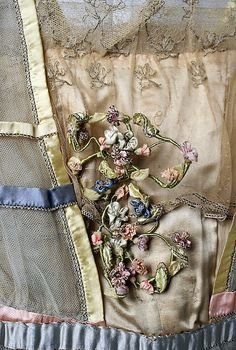 Evening dress. Lucile (British, 1863–1935). Date: 1916–18. Culture: British. Medium: silk. Bodice detail. MMA Collections.