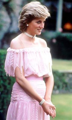 Princess Diana, looking lovely in pink.