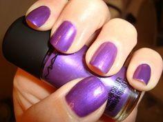 This purple nail polish is pretty