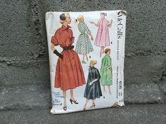 50's McCall's 9130 Pattern Misses' Dress, Negligee or Unlined Coat - Size 14 Bust 32 by ElkHugsVintage on Etsy