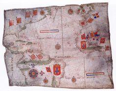 Portuguese Chart of the Atlantic Ocean, 1549