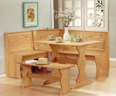 corner bench dining set - Google Search