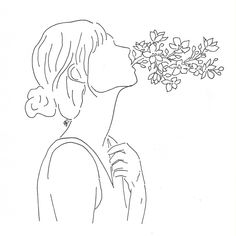 "poeticamenteflor: "" she is like the wind. Outline Drawings, Art Drawings Sketches, Easy Drawings, Wind Drawing, Minimal Drawings, Minimalist Drawing, Small Canvas Art, Aesthetic Art, Doodle Art"