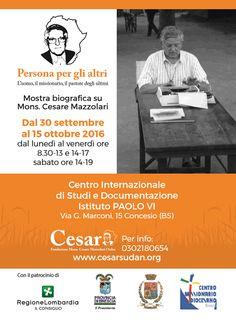 Mostra Biografica su Mons. Cesare Mazzolari a Concesio http://www.panesalamina.com/2016/51252-mostra-biografica-su-mons-cesare-mazzolari-a-concesio.html