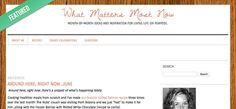 Excited to be Typepad's Featured Blog of the Week! #What_matters_most_now