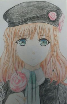 This was my first ever anime drawing, its Heroine from Amnesia (Rin Gladkikh)